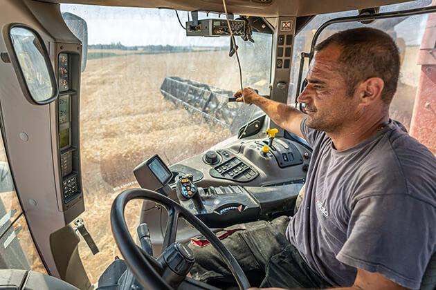 Témoignage conducteur en exploitation agricole